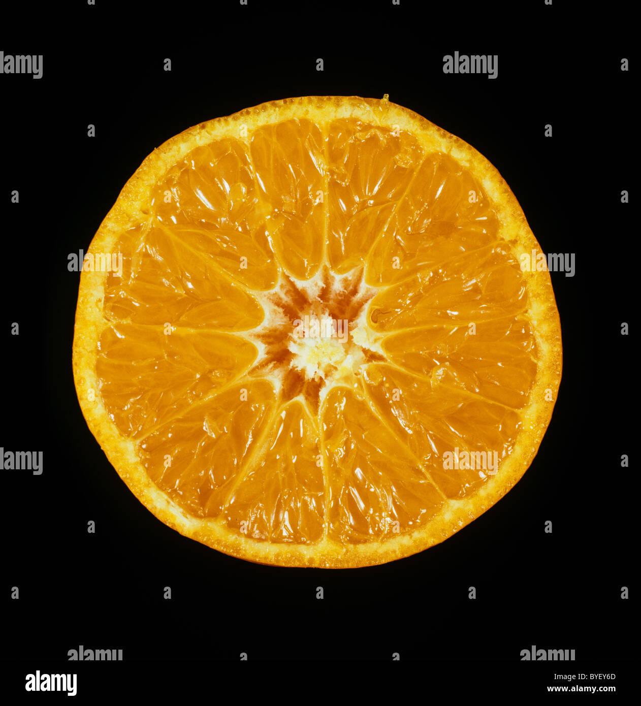 Section citrus fruit mandarin variety Fortune Stock Photo