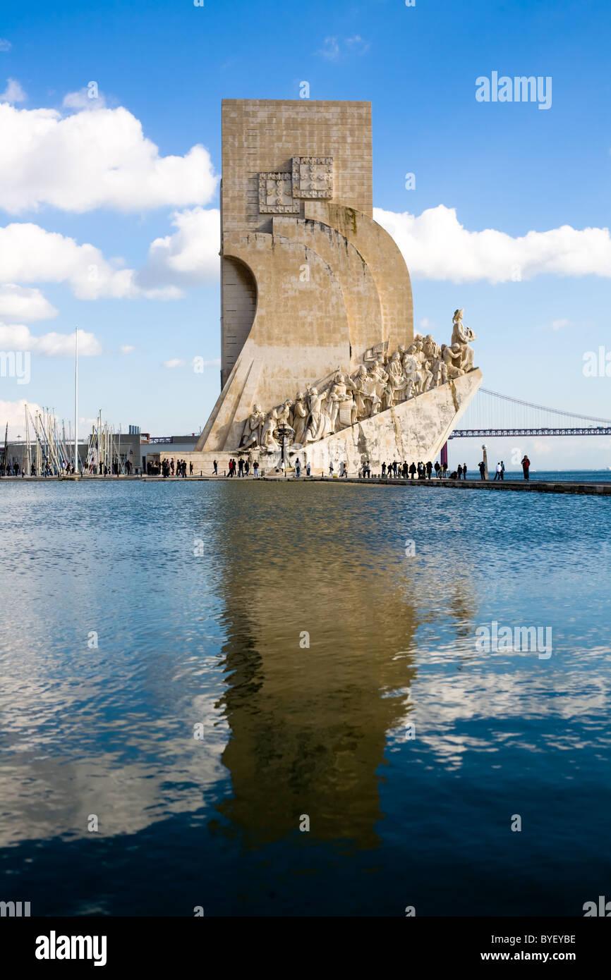 Discoveries Monument, Belém, Lisbon, Portugal - Stock Image