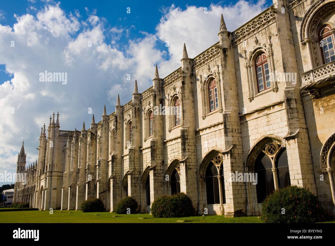 Jeronimos Monastery aka Mosteiro dos Jerónimos, Belém, Lisbon, Portugal - Stock Image