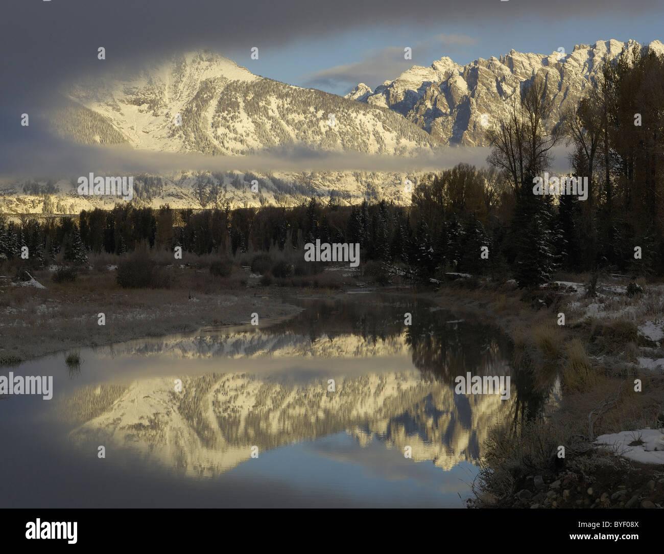 Rocky Mountain Reflections Stock Photo