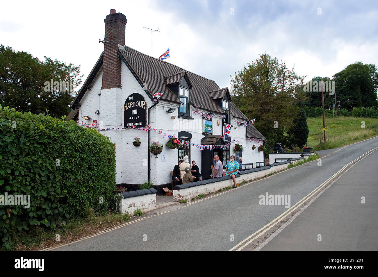The Harbour Inn Public House next to the Severn Valley railway station at Arley, Bewdley, Worcestershire, UK - Stock Image