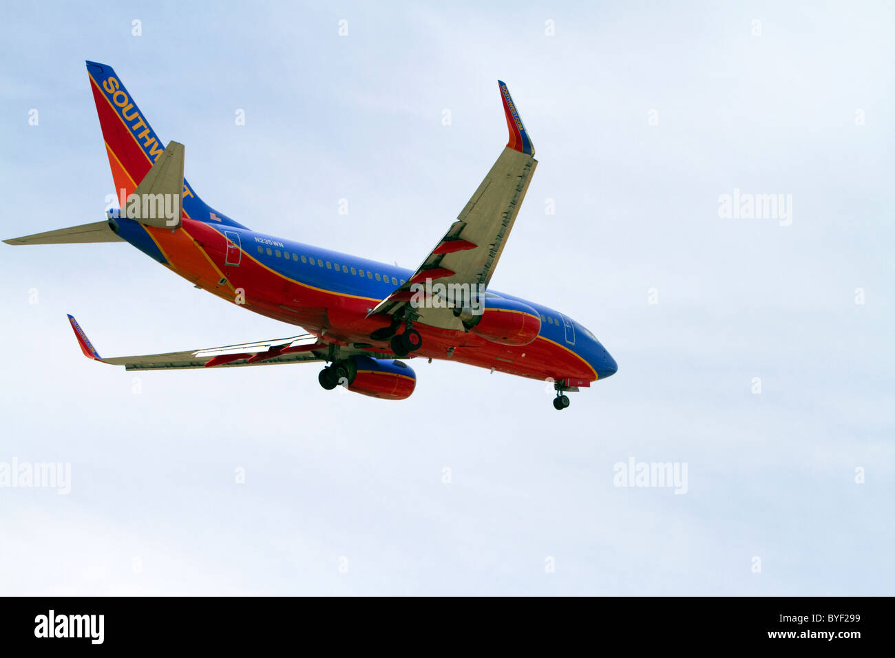 ea845ea5183c Southwest airlines Boeing 737 aircraft on final approach to the Boise  Airport