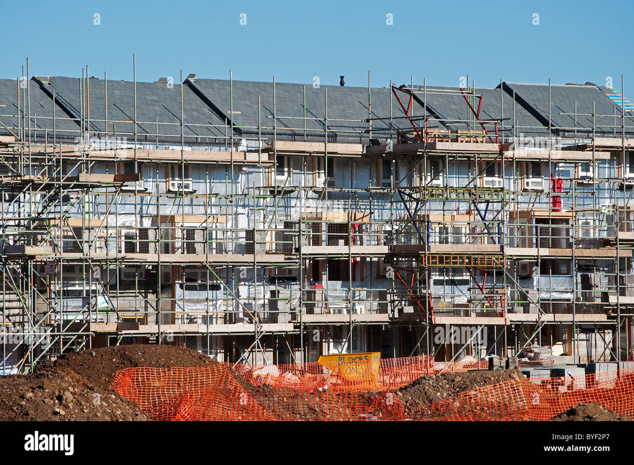an affordable housing scheme under construction near bristol, uk - Stock Image