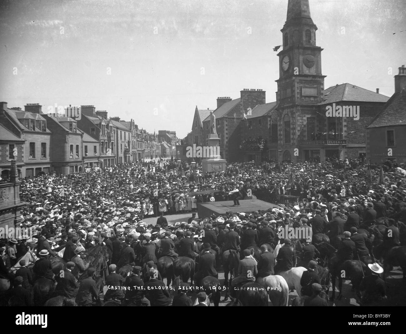 Casting the Colours Selkirk Common Riding 1905 Stock Photo