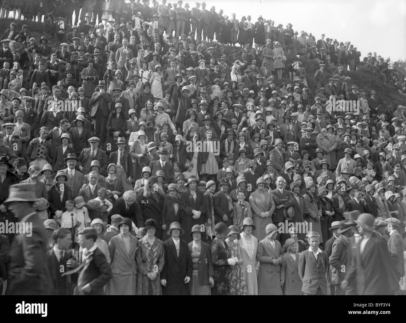 Crowd at the Toll Selkirk Common Riding 1930 Stock Photo