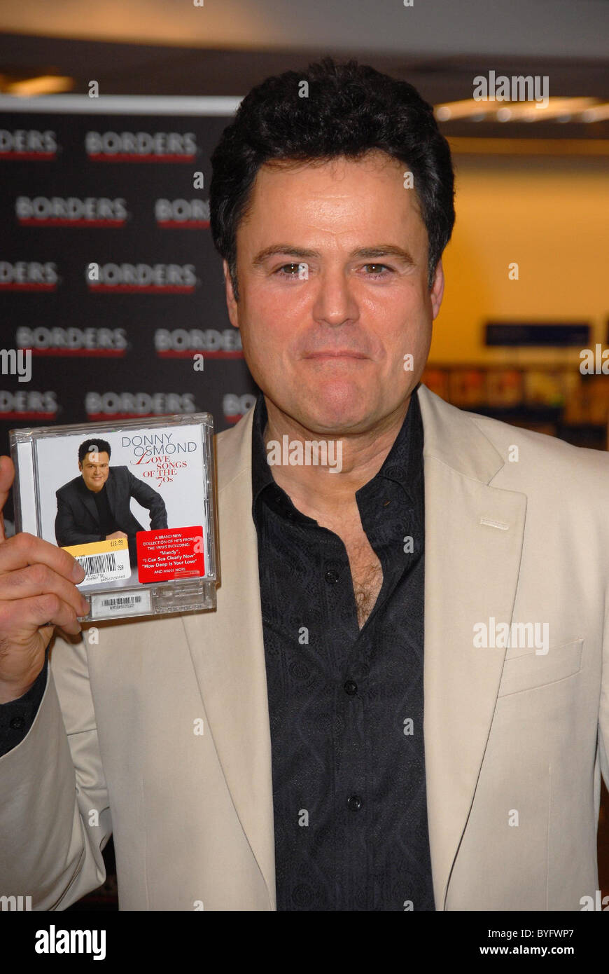 Donny Osmond signs copies of his new CD 'Love Songs of the 70s' at
