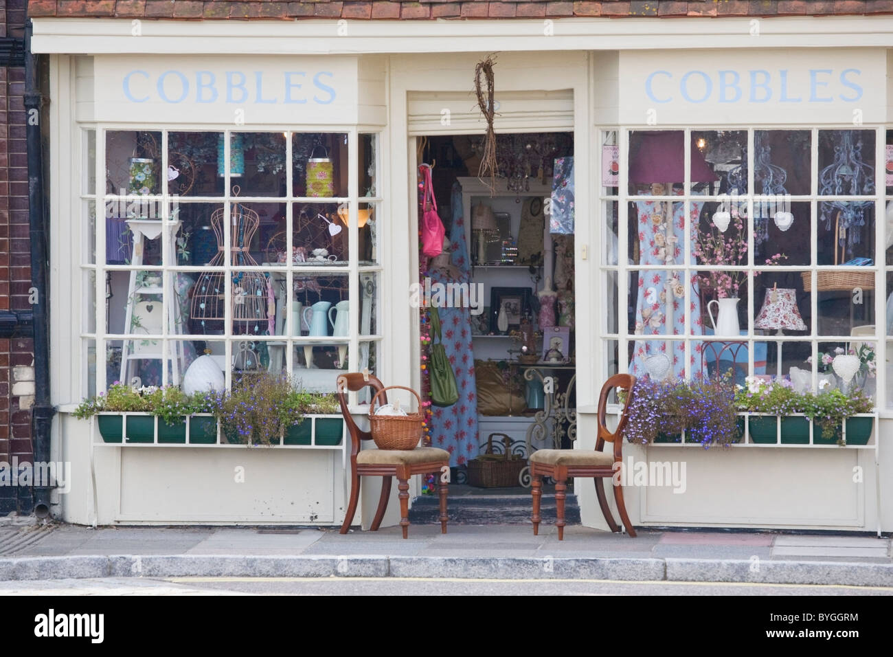 Shop front in Old Portsmouth, Hampshire, England, UK - Stock Image