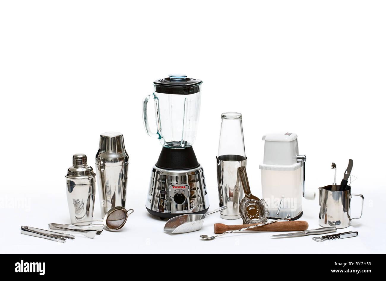 Set of drinks utensils - Stock Image
