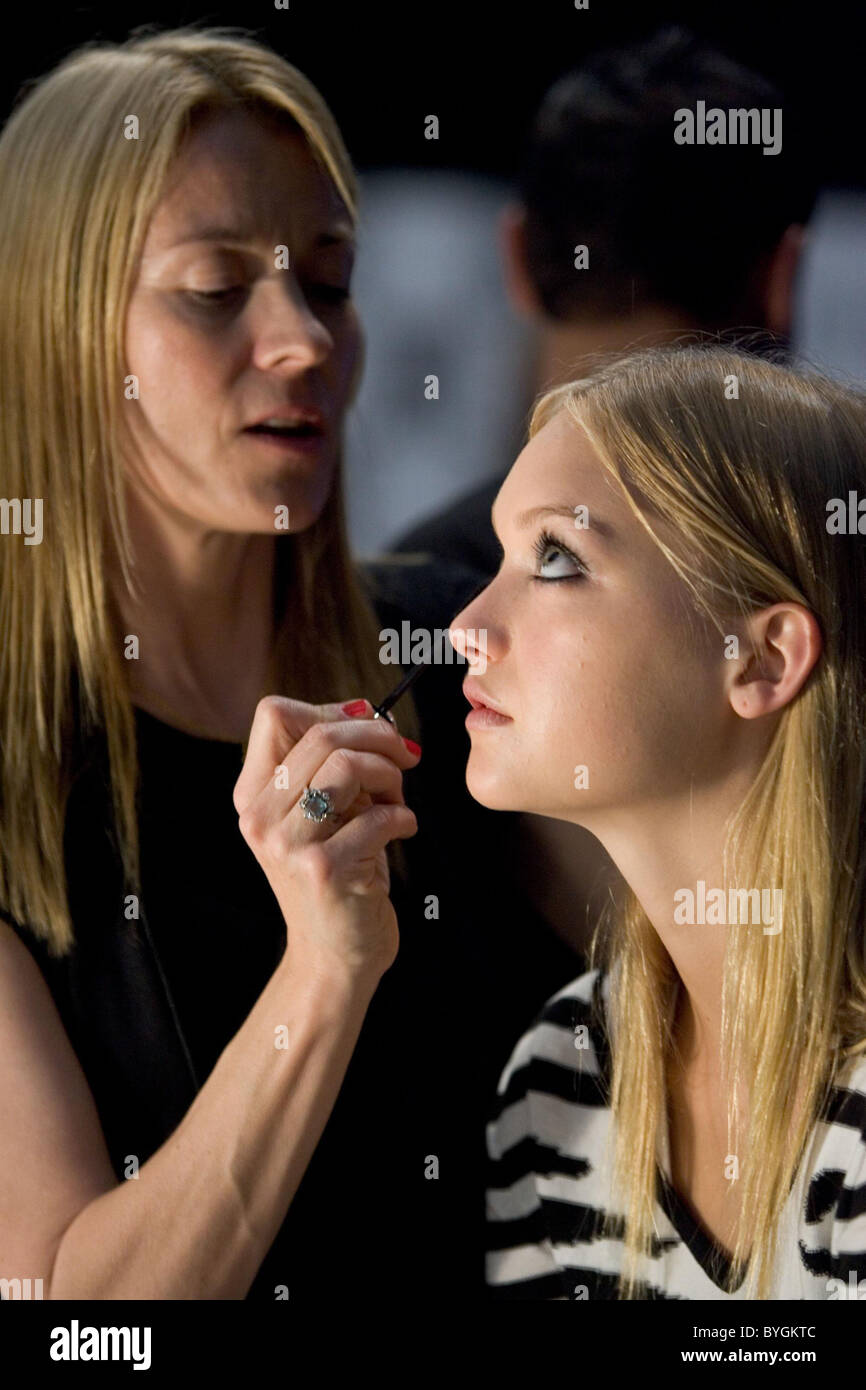 Celebrity Makeup artist Jo Strettell and Gemma Ward Sephora presents FashionWeekLive, held at Fort Mason San Francisco,