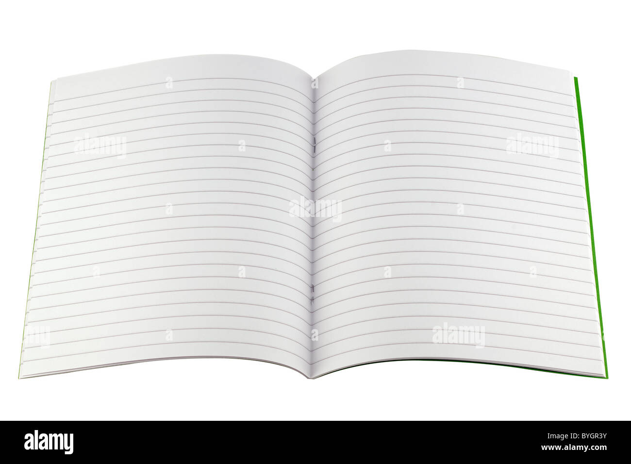 Fully lined writing book - Stock Image