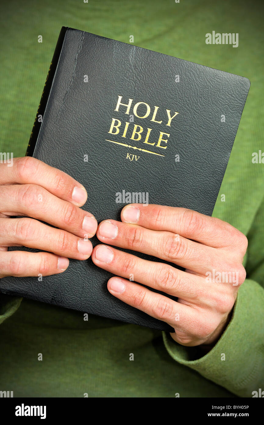 The Holy Bible. - Stock Image