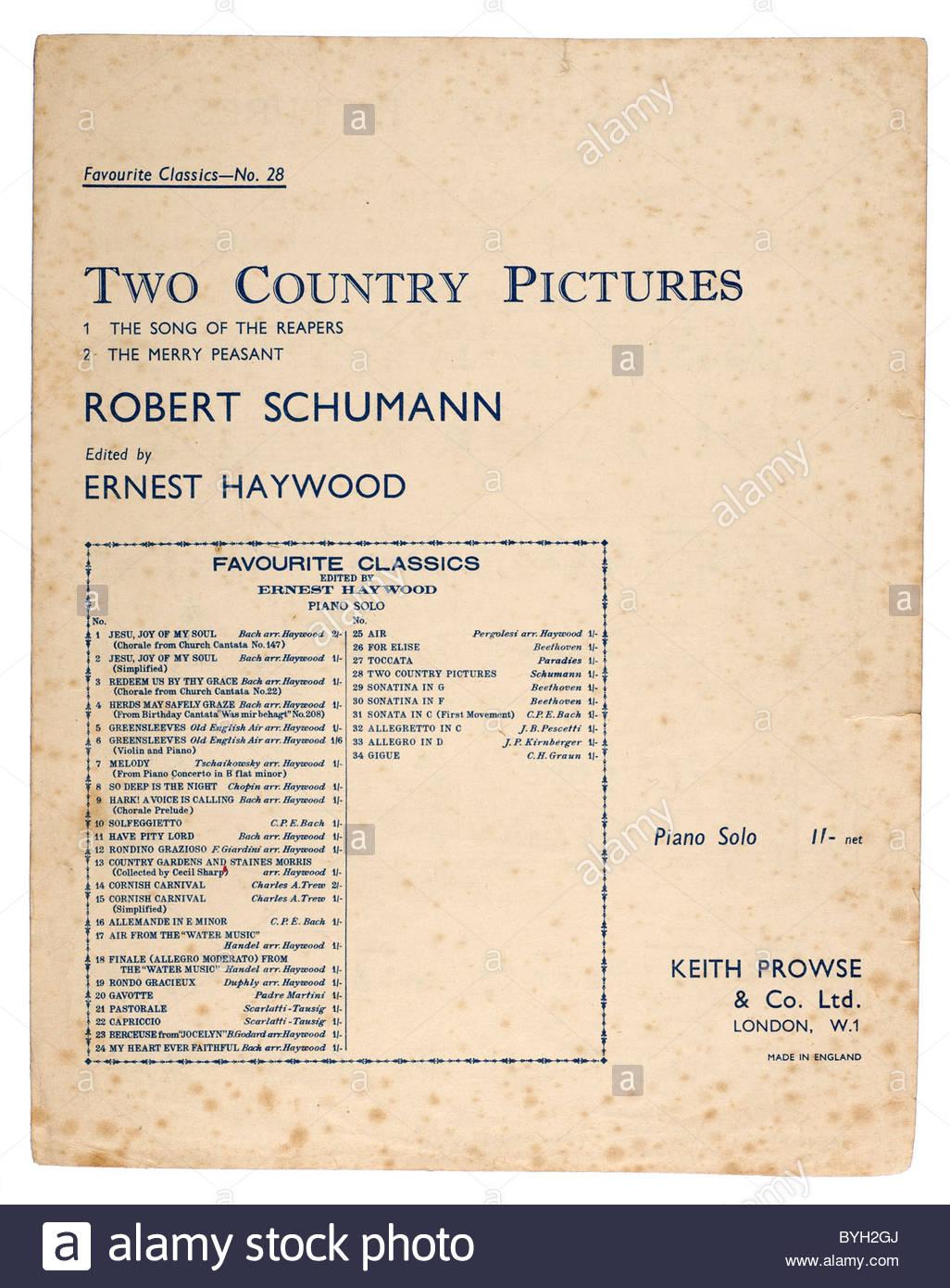 Schumann Music Stock Photos & Schumann Music Stock Images - Alamy