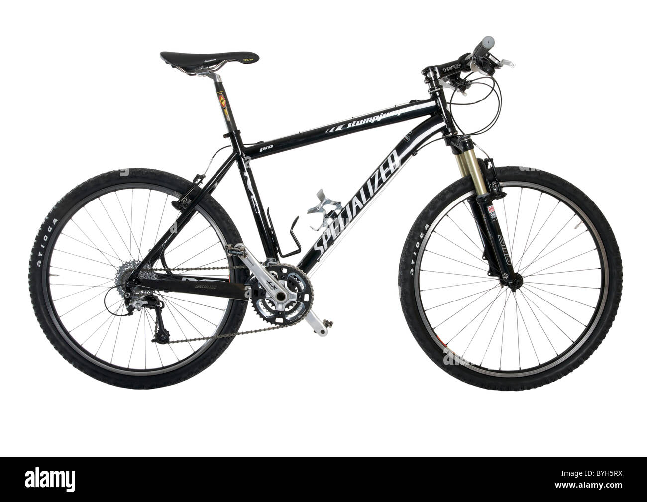 Hardtail mountain bike on white background - Stock Image