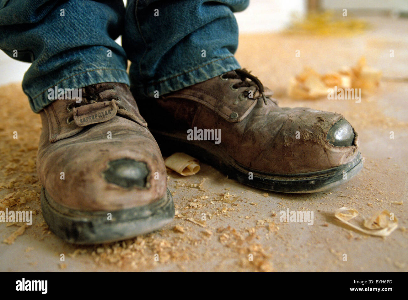 Detail Of Worn Out Safety Shoes Stock Photo 34184597 Alamy