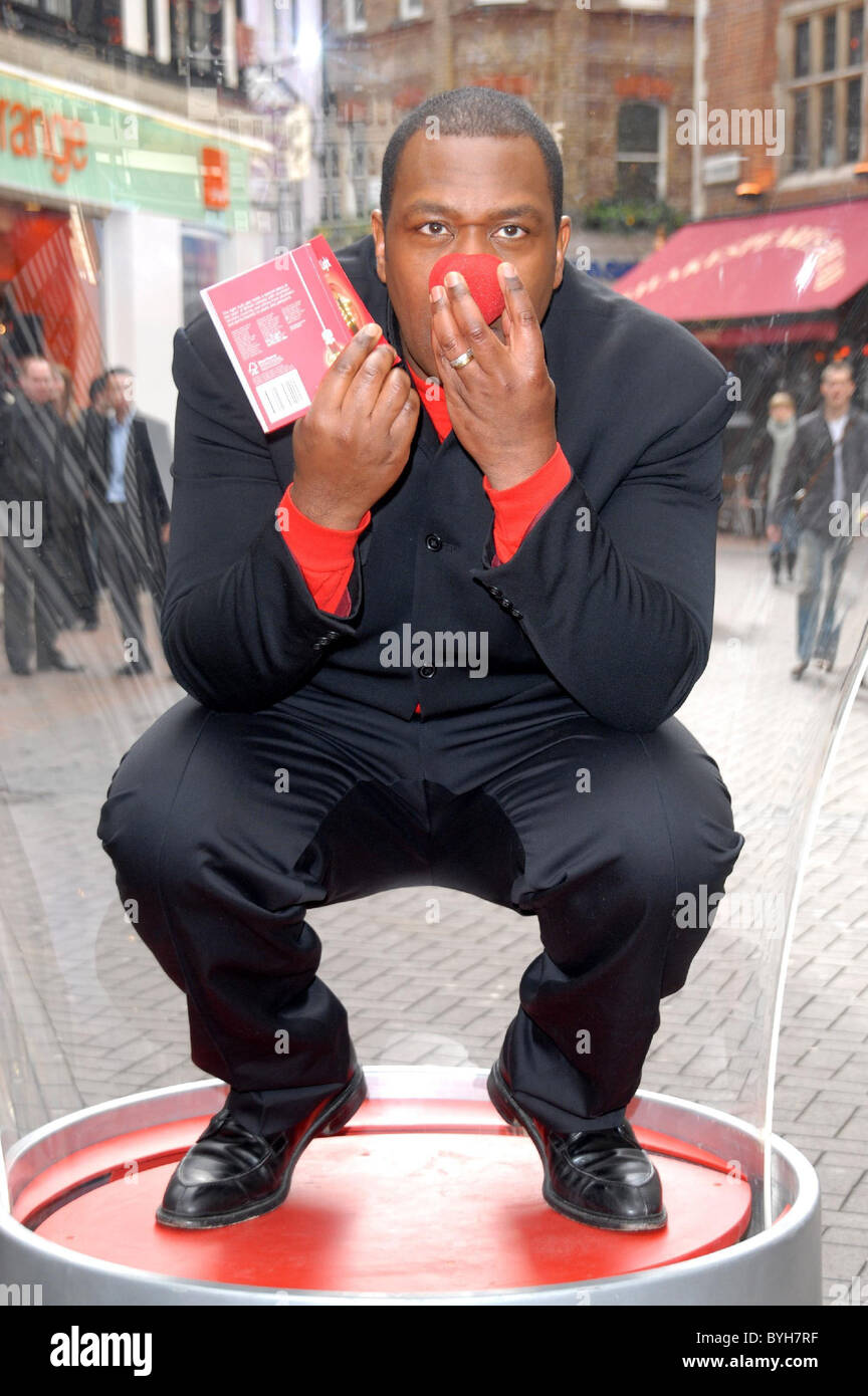 Lenny Henry N Power Joins Forces With Red Nose Day London England 06 03