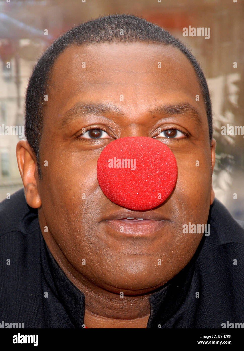 Lenny Henry N Power Joins Forces With Red Nose Day London England