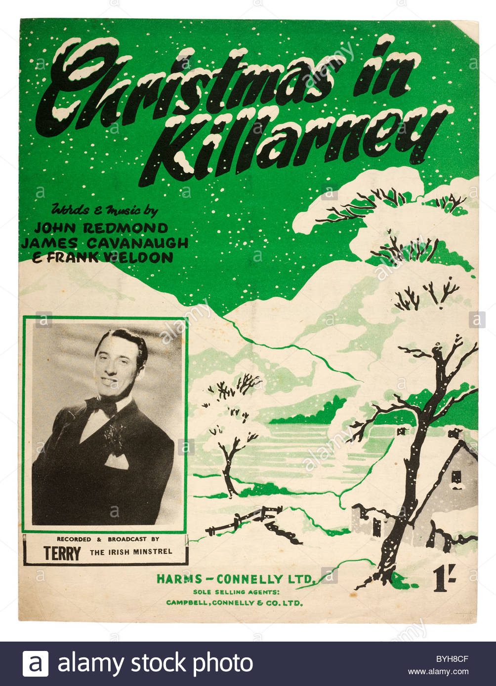 Old sheet music front cover from 1950 titled \