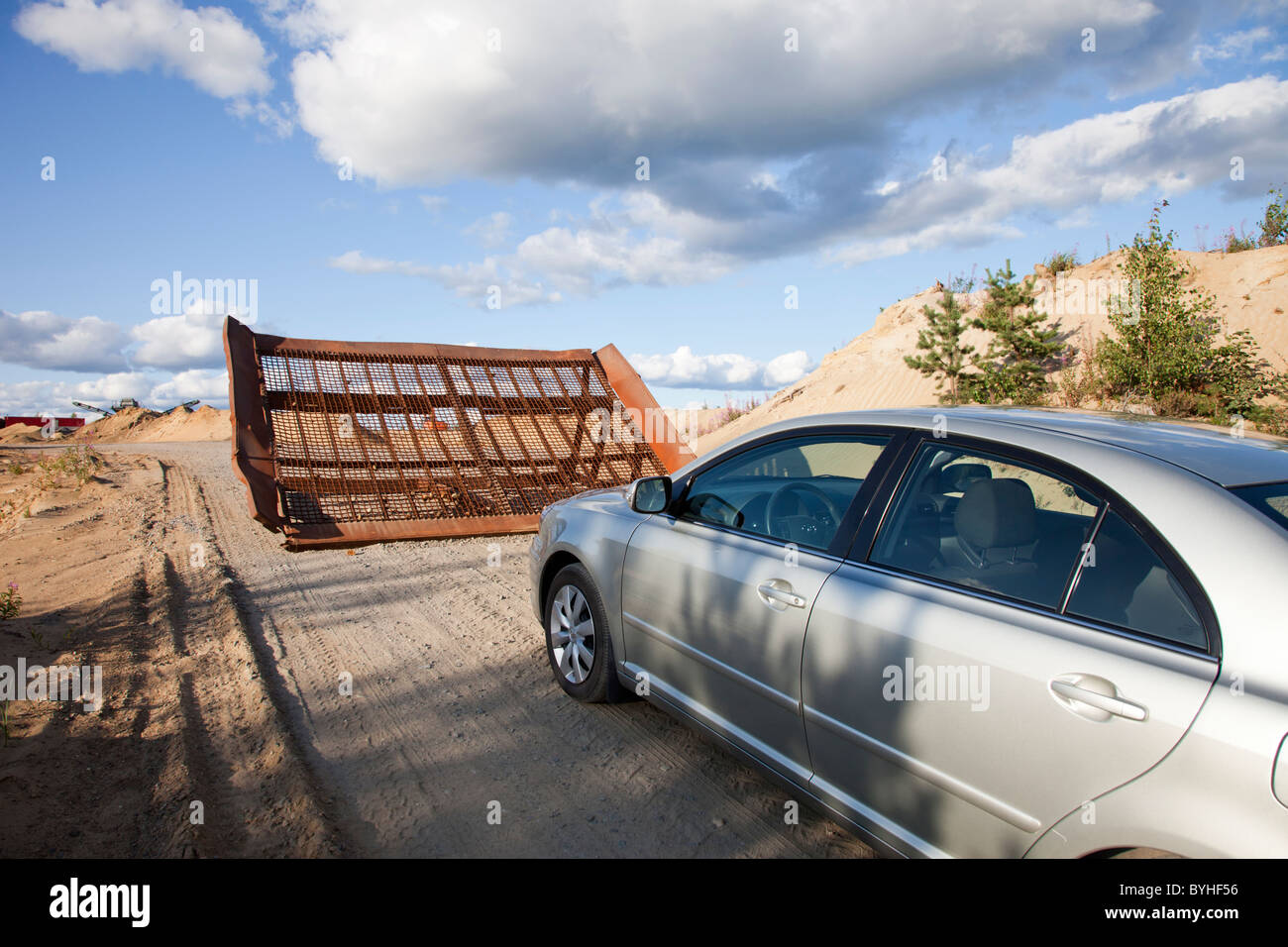 Road block - Stock Image