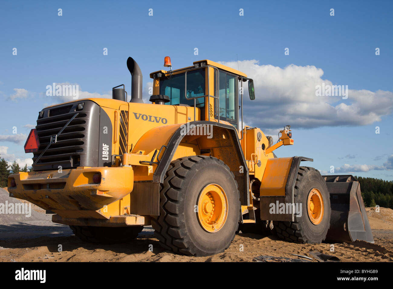 Volvo L180F front loader Stock Photo