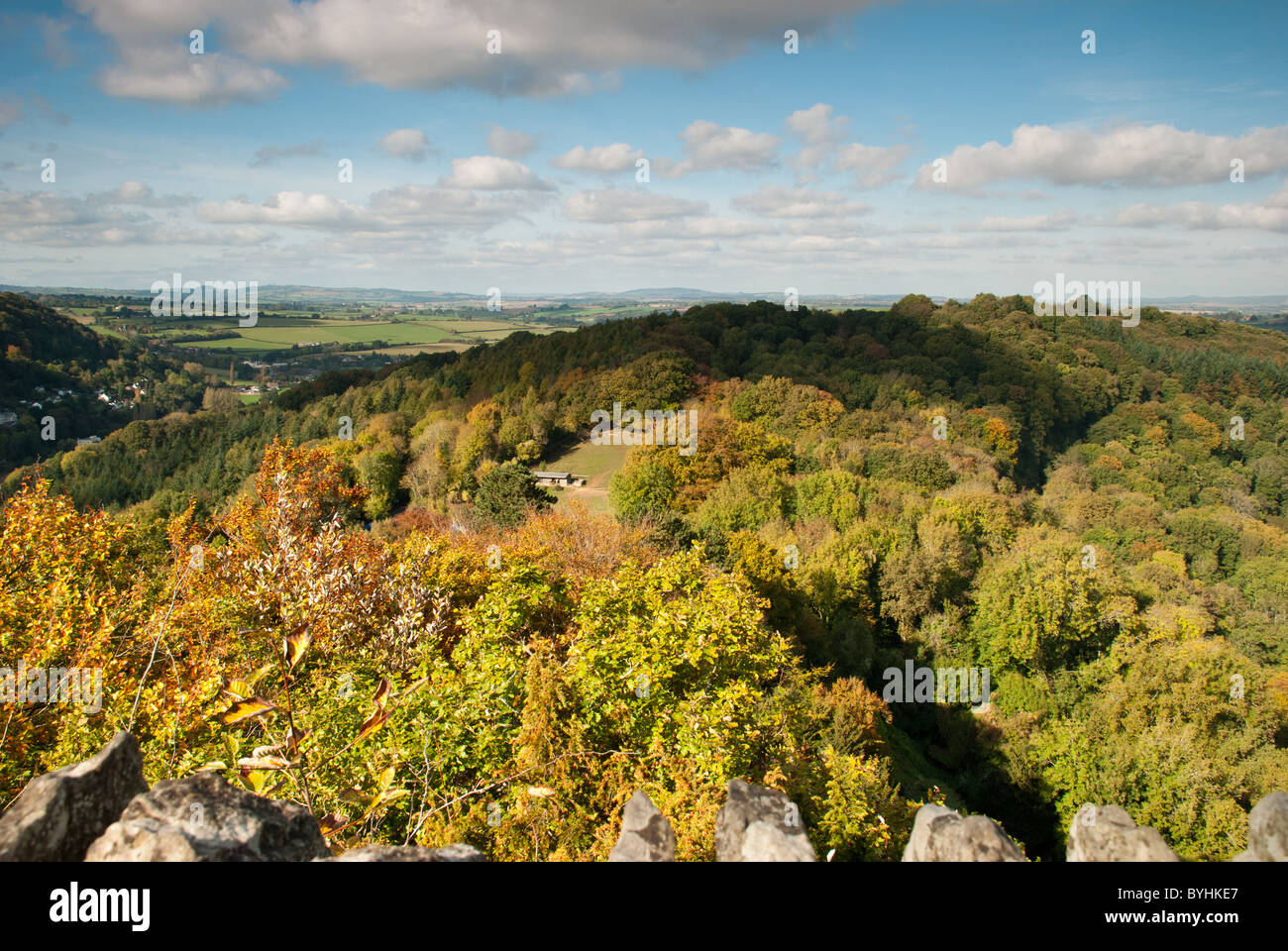 View over Herefordshire from Symonds Rock - Stock Image