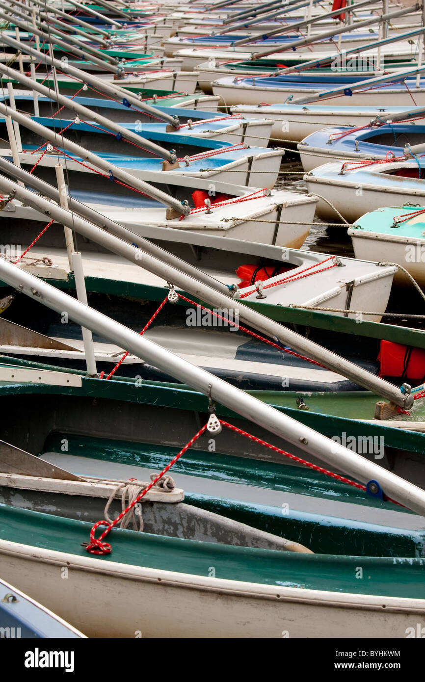 Boats in a marina. Stock Photo
