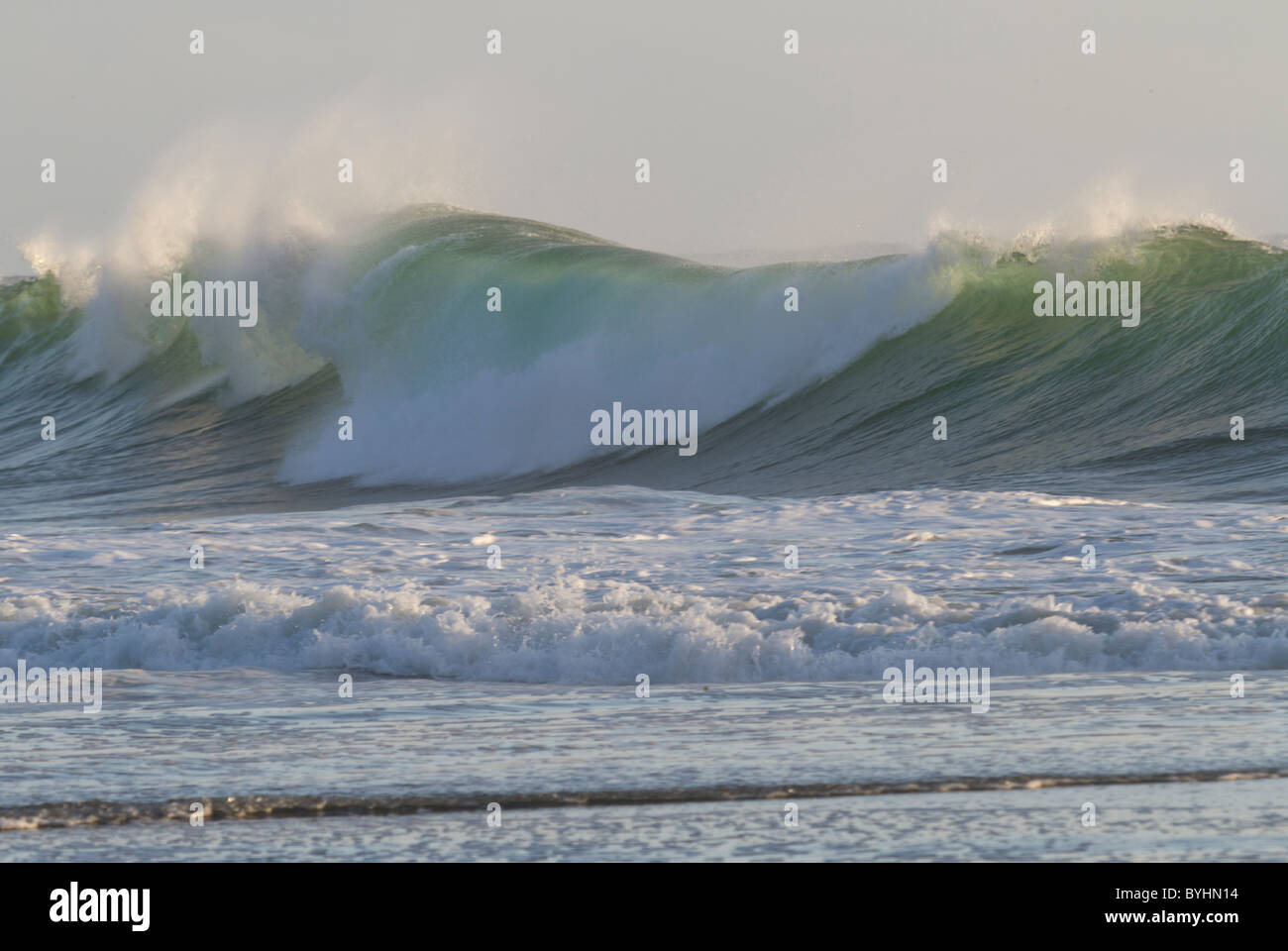Wave with foam - Stock Image