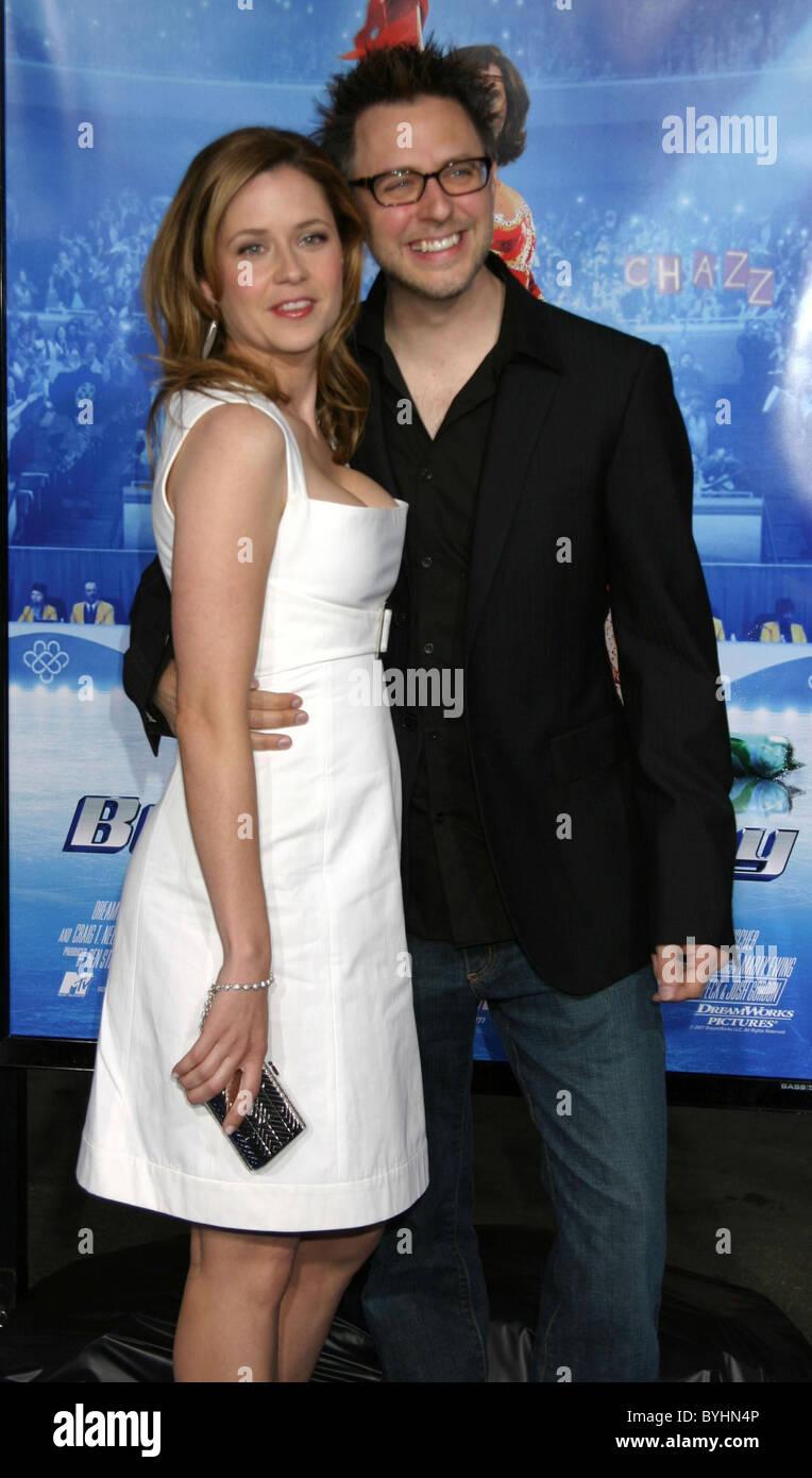 Jenna Fischer And Husband James Gunn Blades Of Glory Premiere Held Stock Photo Alamy