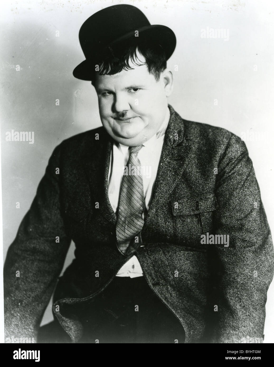 OLIVER HARDY (1892-1957) American comic actor who worked with Stan Laurel - Stock Image