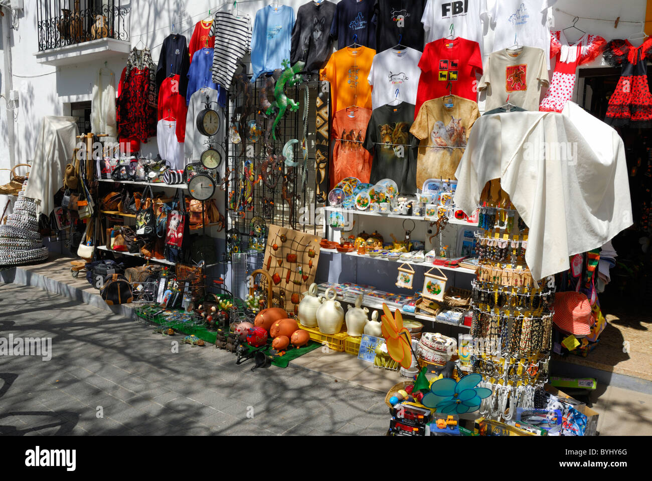 Tourist Souvenirs & Gifts in a Shop in Guadalest, Valencia, Spain - Stock Image