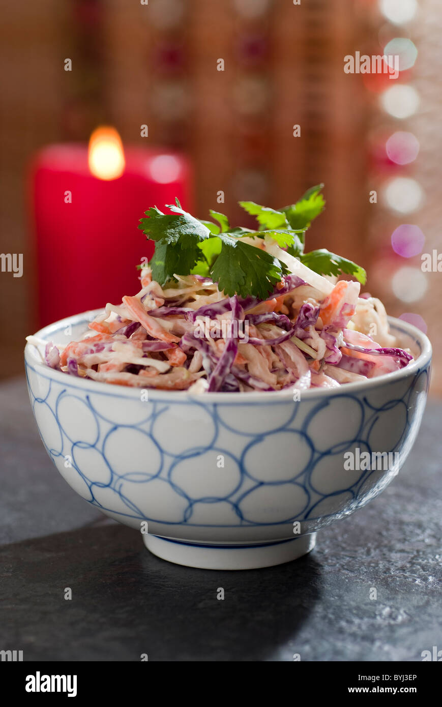 Tangy red and white coleslaw - Stock Image