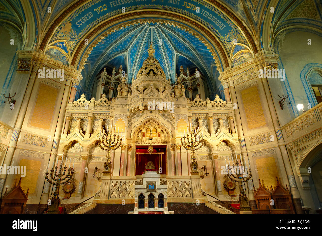 Interior of The Szeged Synagogue, Eclectic Style. Hungary - Stock Image