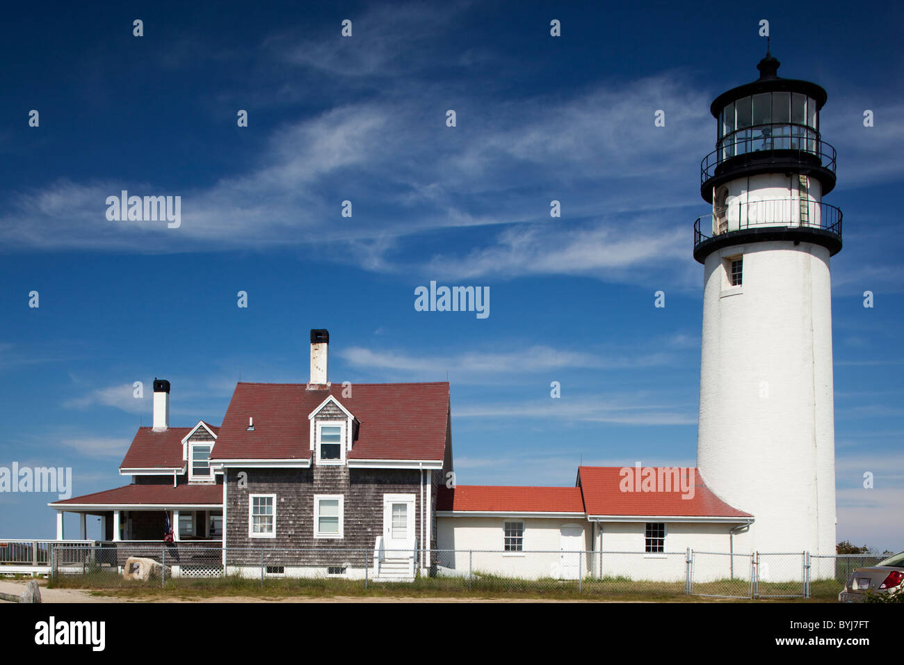 USA, Massachusetts, Cape Cod National Seashore, Highland Lighthouse on spring afternoon - Stock Image
