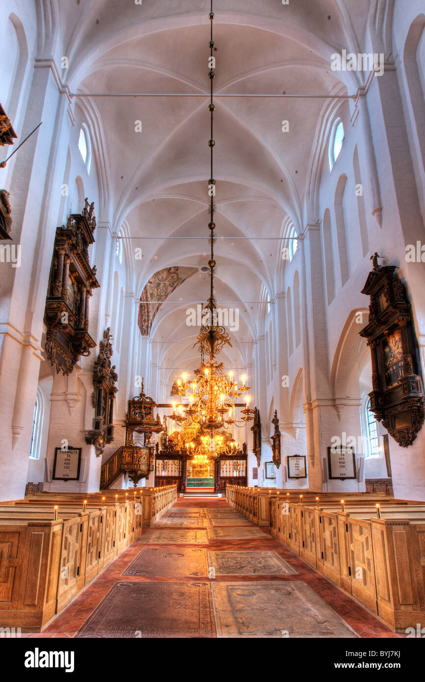 Inside Elsinore Cathedral - Stock Image