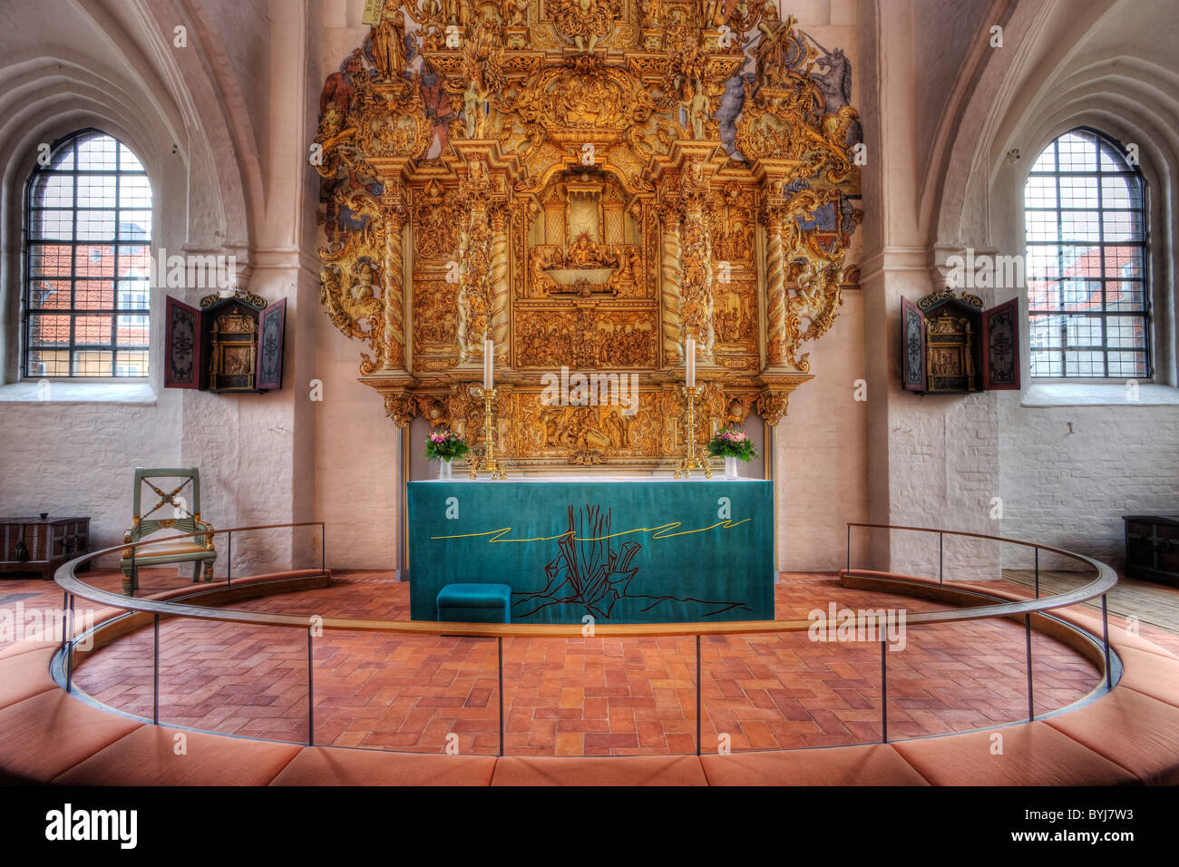 The alter in Elsinore Cathedral - Stock Image