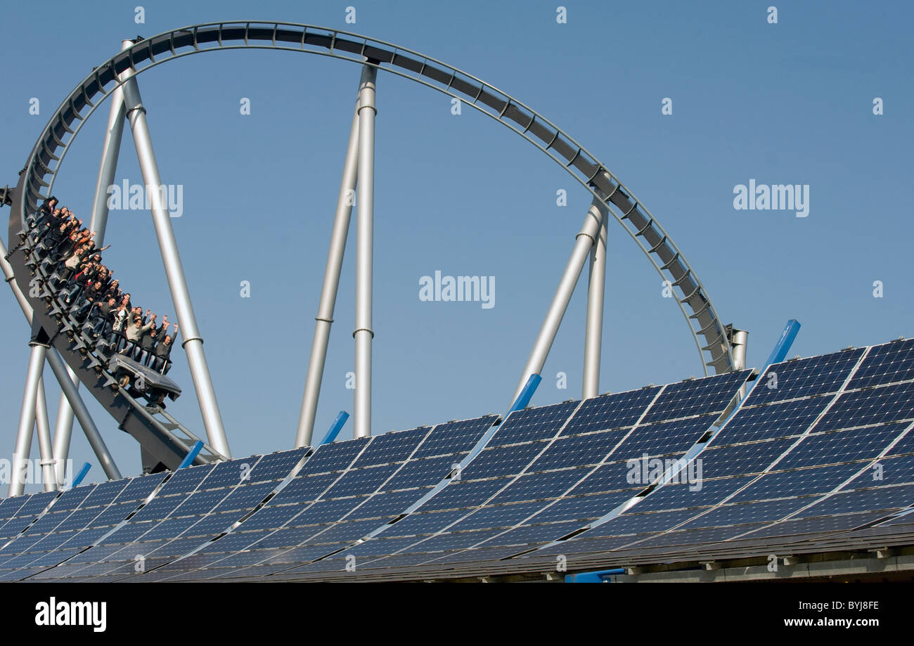 Silver Star at Europa-Park in Rust, Germany - Stock Image