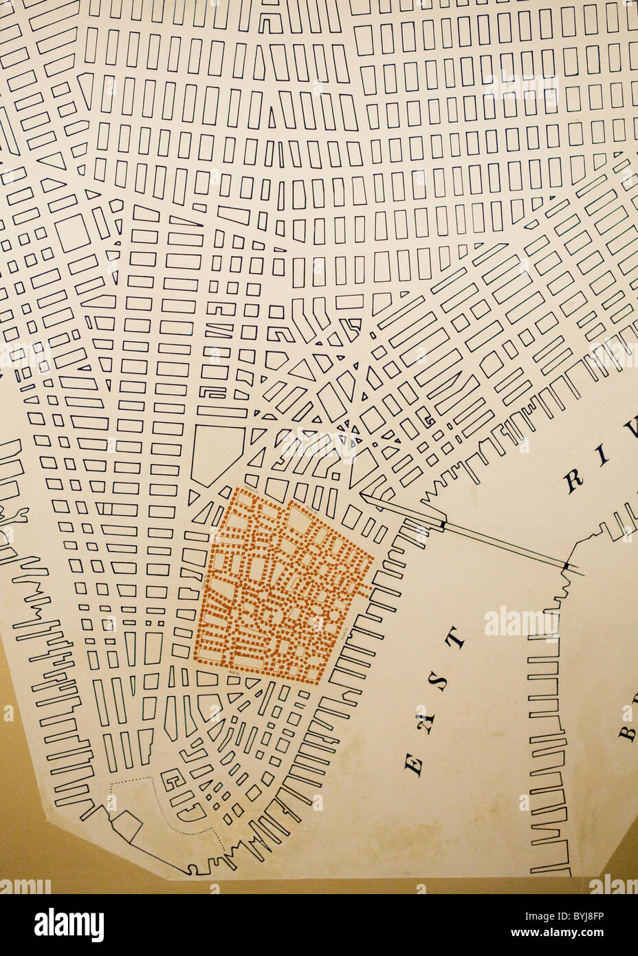 Antique map of Manhattan's electric grid Stock Photo: 34207930   Alamy