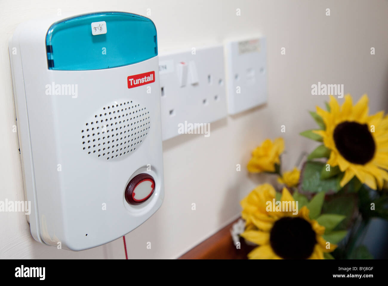 A Tunstall Emergency Call Alarm Intercom Installed At An