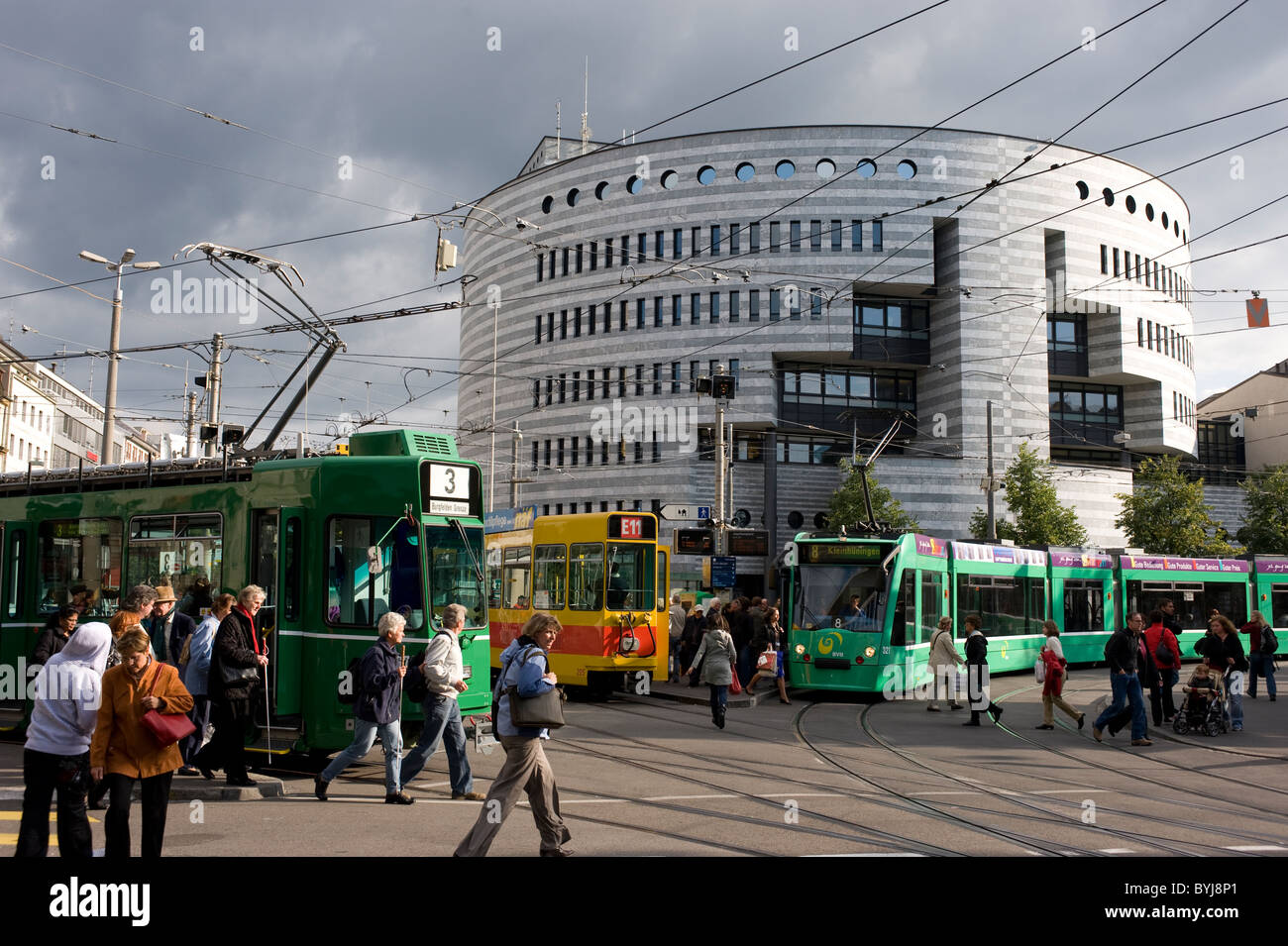 Bank for International Settlements in Aeschenplatz, Basel, Switzerland - Stock Image