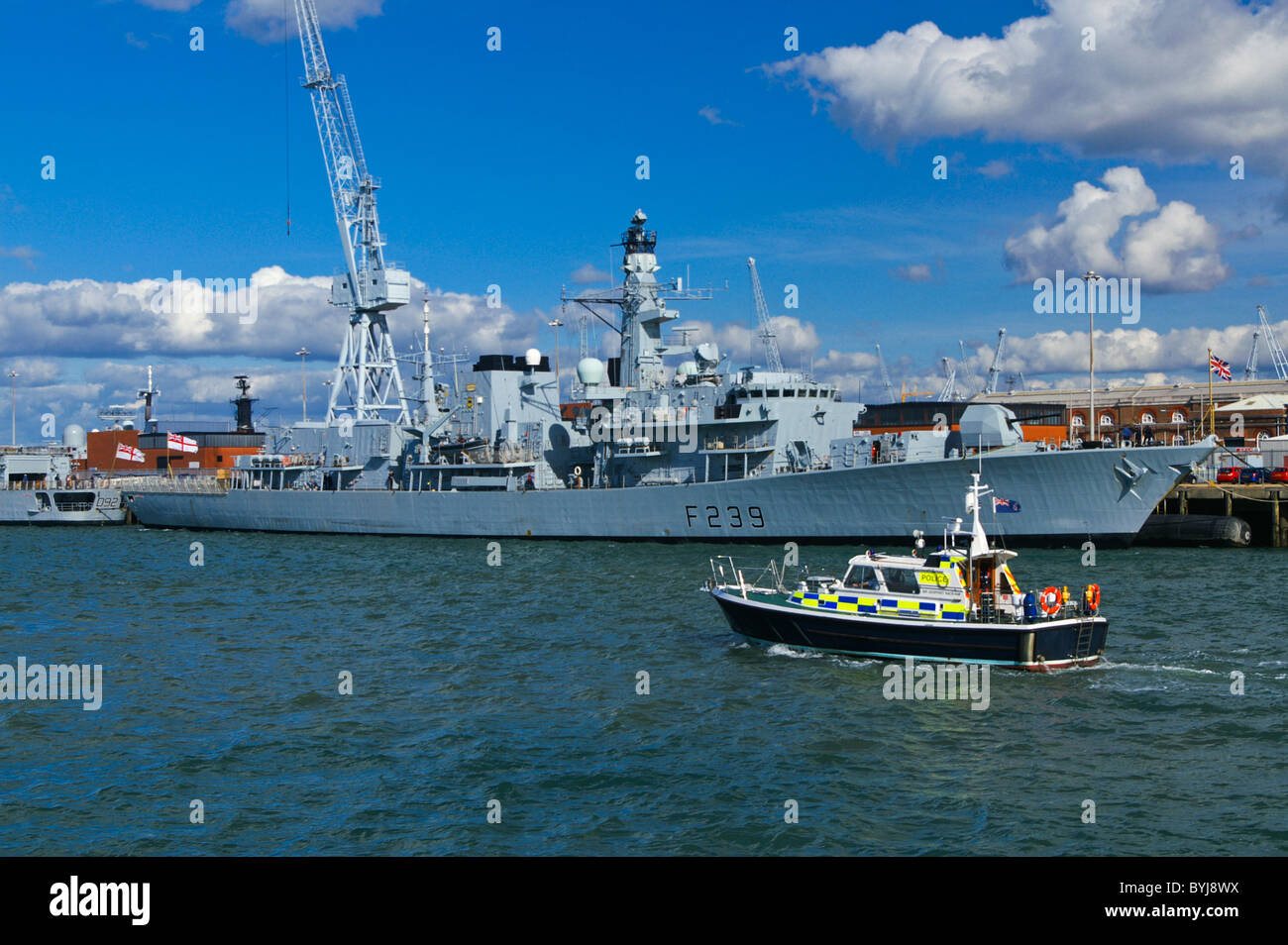 The Royal Navy Type 23 (Duke class) frigate HMS RICHMOND in Portsmouth, England, United Kingdom. Stock Photo
