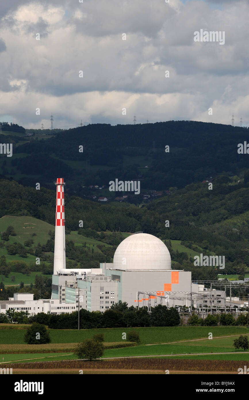 Nuclear power plant, Leibstadt, Switzerland - Stock Image