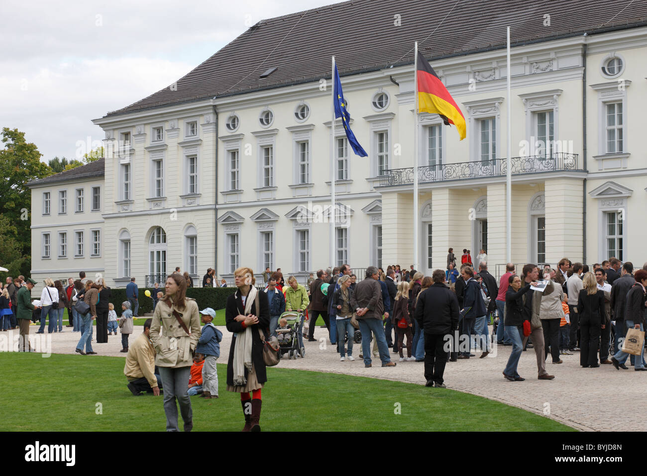 The Open Door Day in the Office of the Federal President and Schloss Bellevue, Berlin, Germany - Stock Image