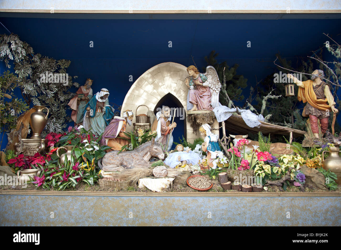 Presepio de Natal at Sao Jorge Madeira - Stock Image