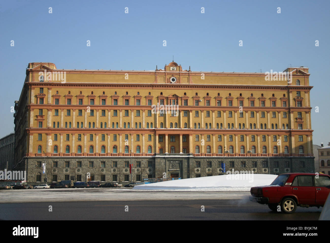 The Lubyanka is the popular name for the headquarters of the KGB in Moscow, Russia Stock Photo