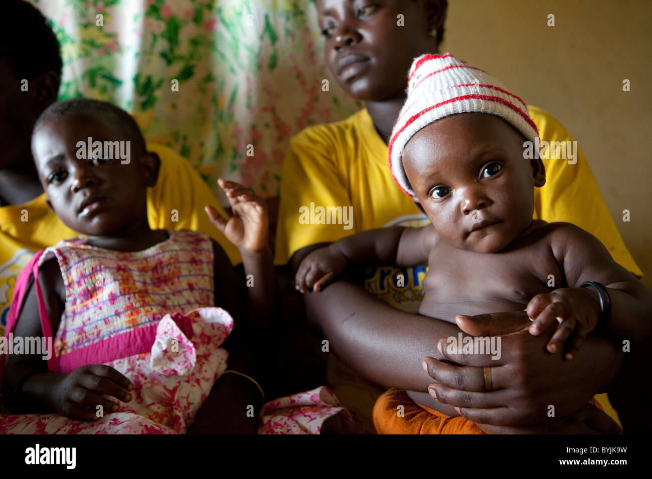 Women seek family planning advice at a reproductive health clinic in rural Masaka, Uganda, East Africa; Stock Photo
