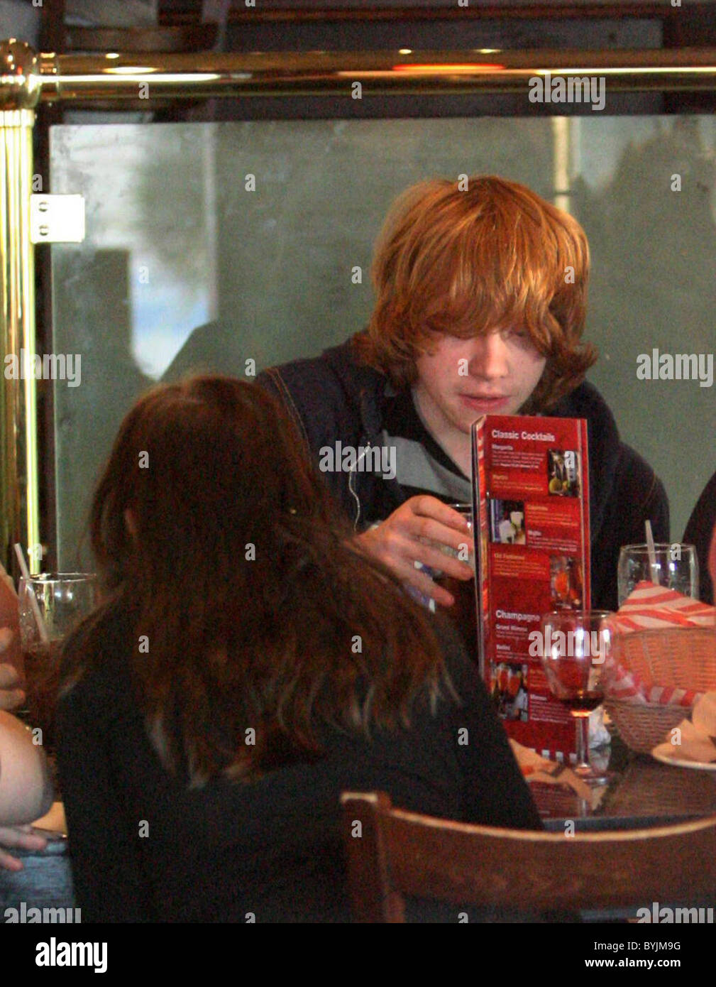 Rupert Grint Attends His Sister Charlottes 7th Birthday Party At TGI Fridays In North London Where He Also Had Dinner With