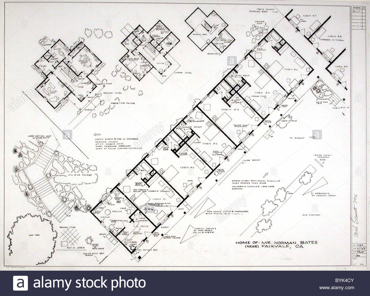 Fantasy Floor plans Psycho Bates Motel Ever wanted to build a – Psycho House Floor Plans