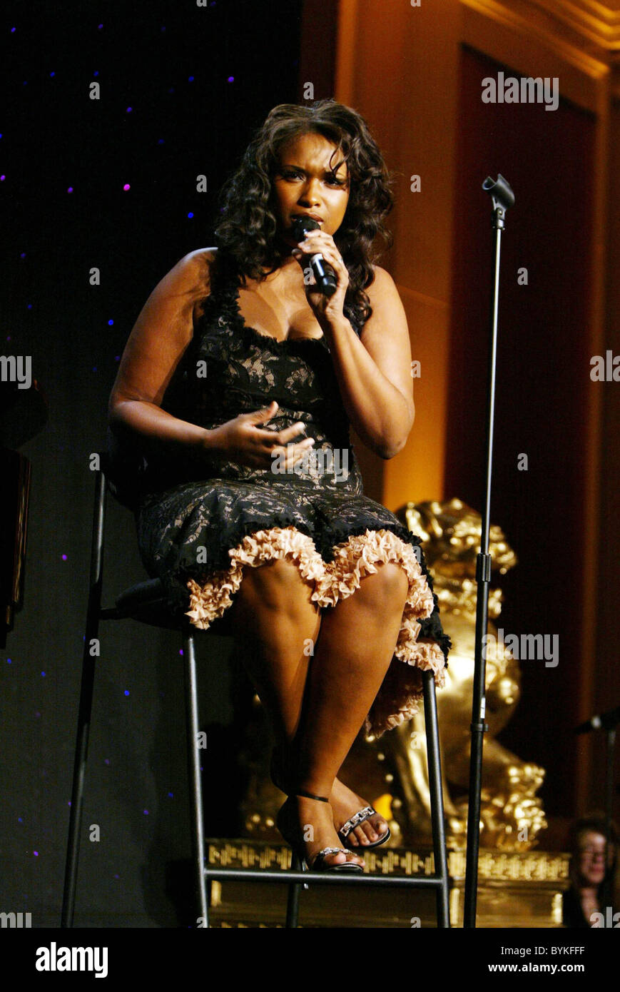 Jennifer Hudson performing at the Lupus Gala held at the