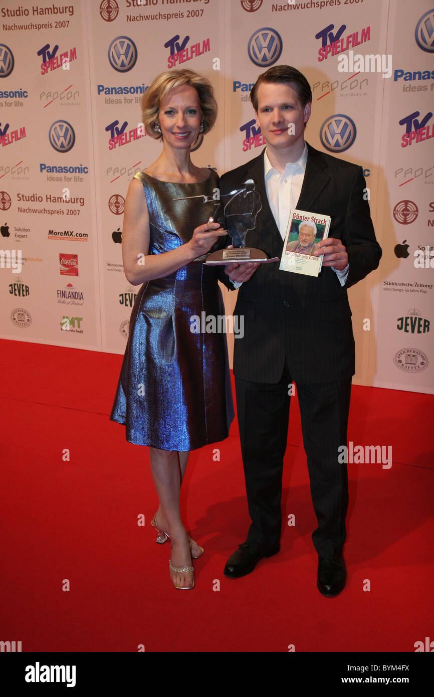 Mareike Carriere, Enno Hesse (Winner - Best Actress) Studio Hamburg Nachwuchspreis 2007 Hamburg, Germany - 20.04.07 - Stock Image