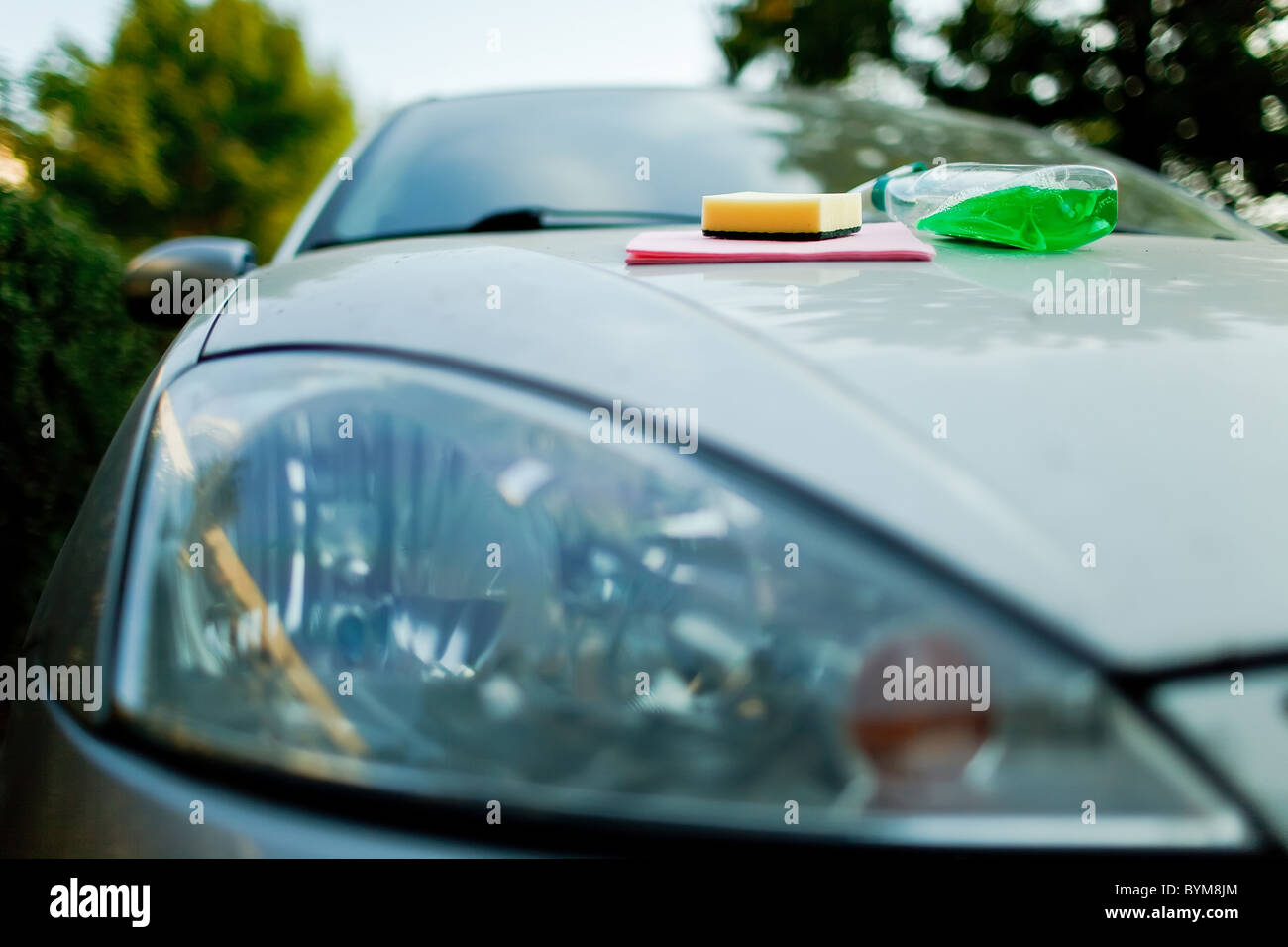 Car Wash - Cleaning the Car - Stock Image