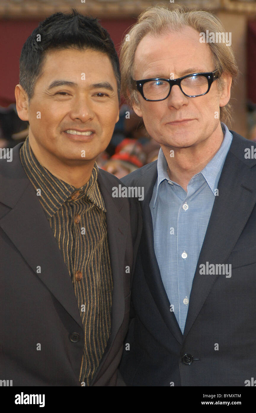 Chow Yun Fat and Bill Nighy World Premiere of Walt Disney Pictures 'Pirates Of The Caribbean: At World's End' held Stock Photo
